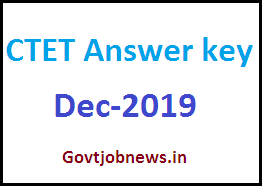 CTET Answer Key Dec 2019