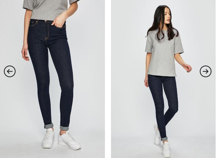 Calvin Klein Jeans - Jeansi dama cu rupturi albastri originali