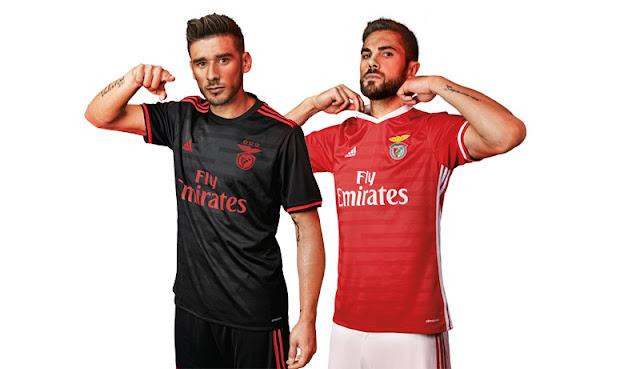 f8c78c6edc9d9 Na última sexta-feira foram apresentadas oficialmente as novas camisas do  Benfica para a temporada 2016-2017