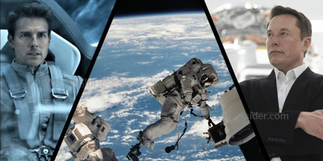 Tom Cruise on a misson to space station for film shooting