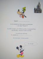 Lettre gratuite à imprimer surprise Disneyland