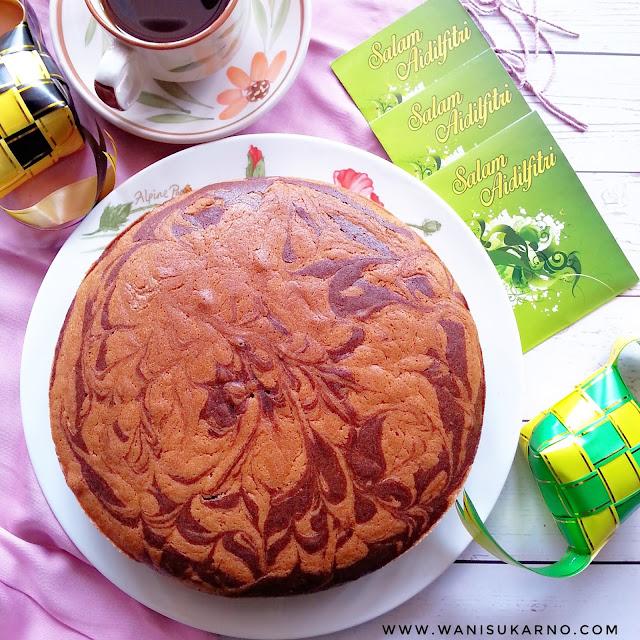 resepi kek marble mudah, moist, gebu sukatan cawan