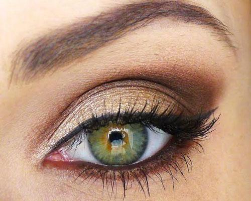 Maquillaje para ojos verdes y maduros