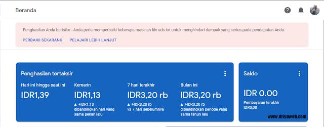 Cara Mengatasi Masalah File Ads.txt Google Adsense di Blogspot terbaru 2020