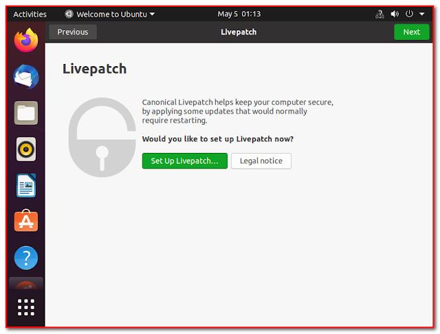 Ubuntu LivePatch setup
