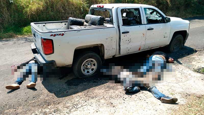 Fotos: Masacre en Coatepec Harinas; Estado de México, Sicarios COBARDES emboscan y ejecutan al menos a 13 elementos Ministeriales y Policías