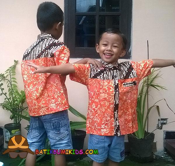 Kemeja batik anak Elang Sulur Parang series