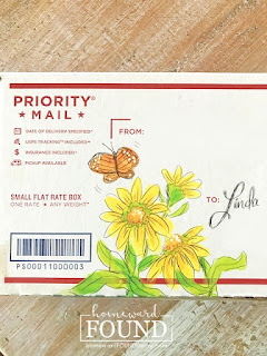 flowers, garden, painted flowers, painting, artwork, art, USPS flat rate boxes, gifts, pretty packages
