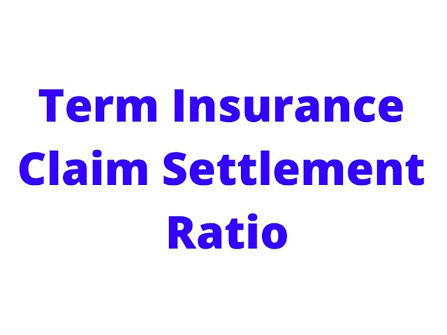 Term insurance claim settlement ratio,term insurance