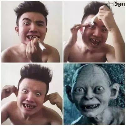 Gollum Lord of the Rings #makeuptransformation