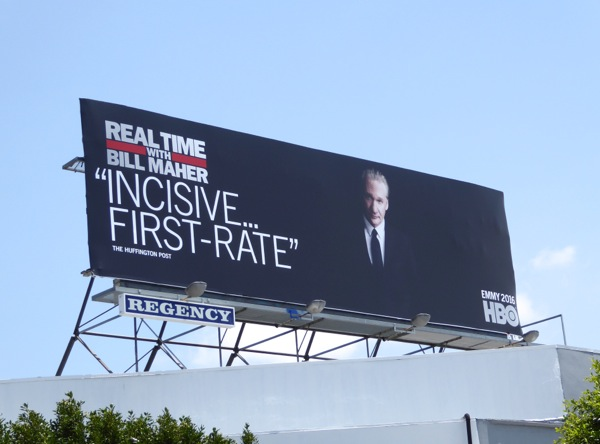 Real Time Bill Maher 14 HBO Emmy 2016 billboard