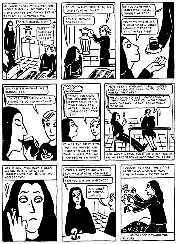 Read Chapter 10 - The Return, page 95, from Marjane Satrapi's Persepolis 2 - The Story of a Return