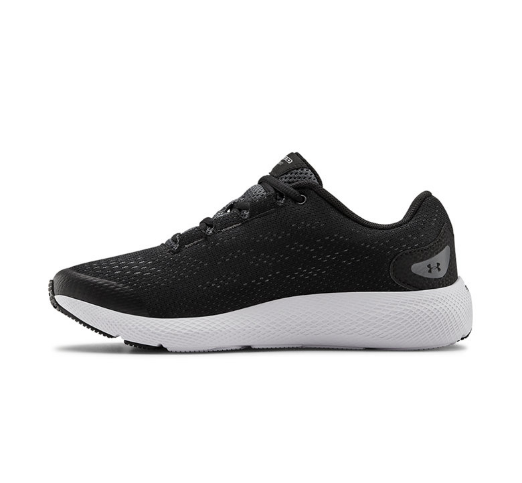 Under Armour Pantofi unisex negri din plasa, pentru alergare GS Charged Pursuit