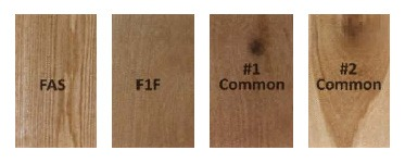 Lumber grades