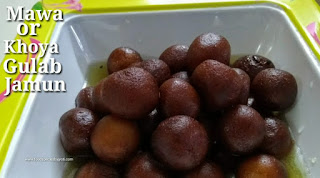 Homemade mawa gulab jamun