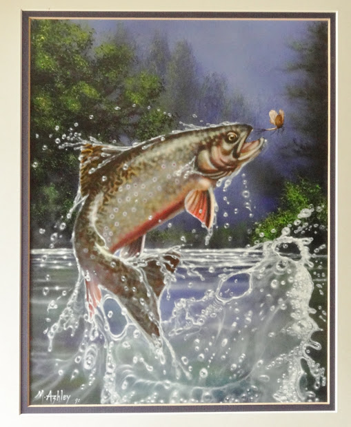 Rainbow Trout Jumping Paintings