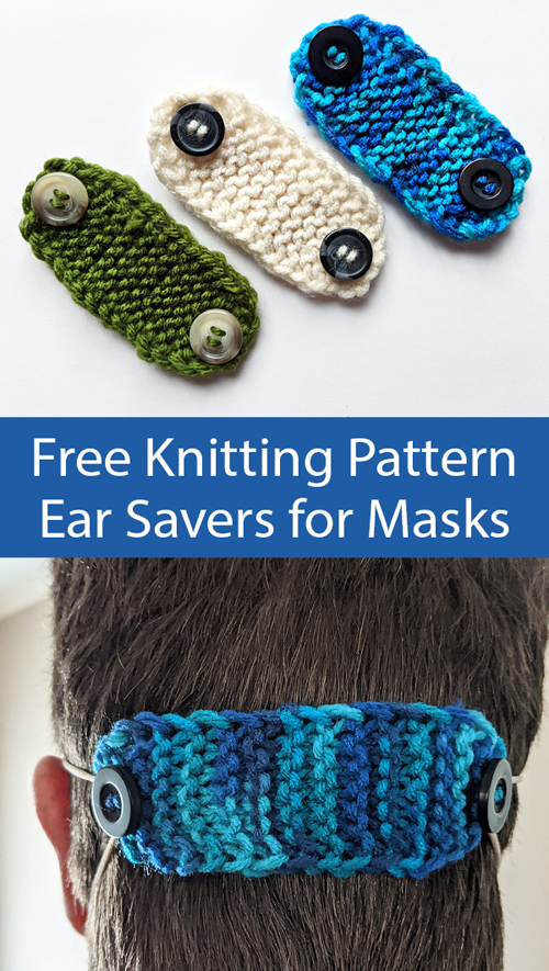 Ear Savers for Masks - Free Knitting Pattern