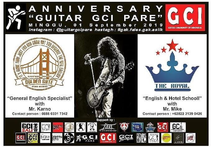 Anniversary Guitar GCI PARE yang I diadakan di Golden Gate Course Pare - Kediri