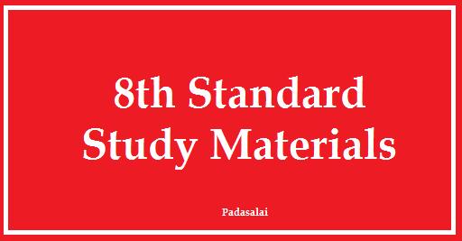 Latest 8th Study Materials - Tamil Medium & English Medium