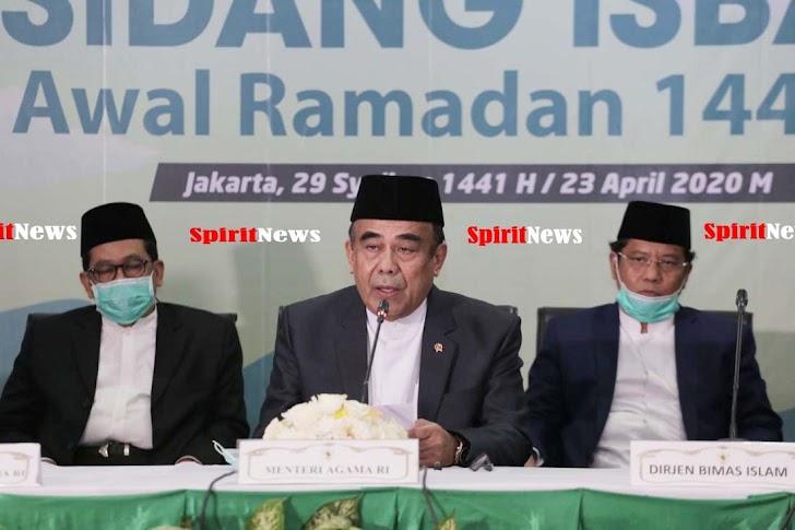 Pemerintah RI, Tetapkan 1 Ramadan 1441H Jatuh Pada Jumat, 24 April 2020