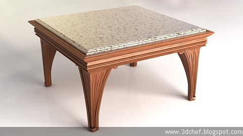 classic table 3d model free