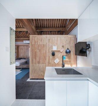 Kitchen and Toilet of Baitasi House of the Future