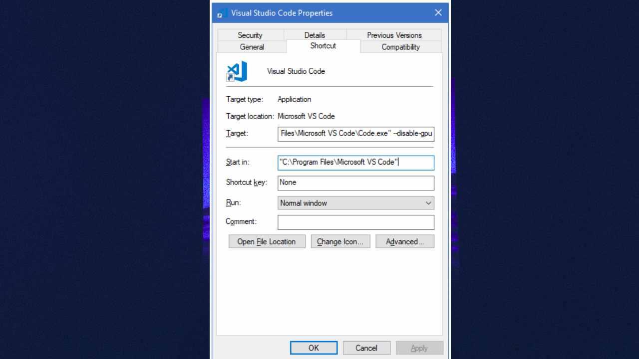 Visual Studio Code Black Screen Windows 7