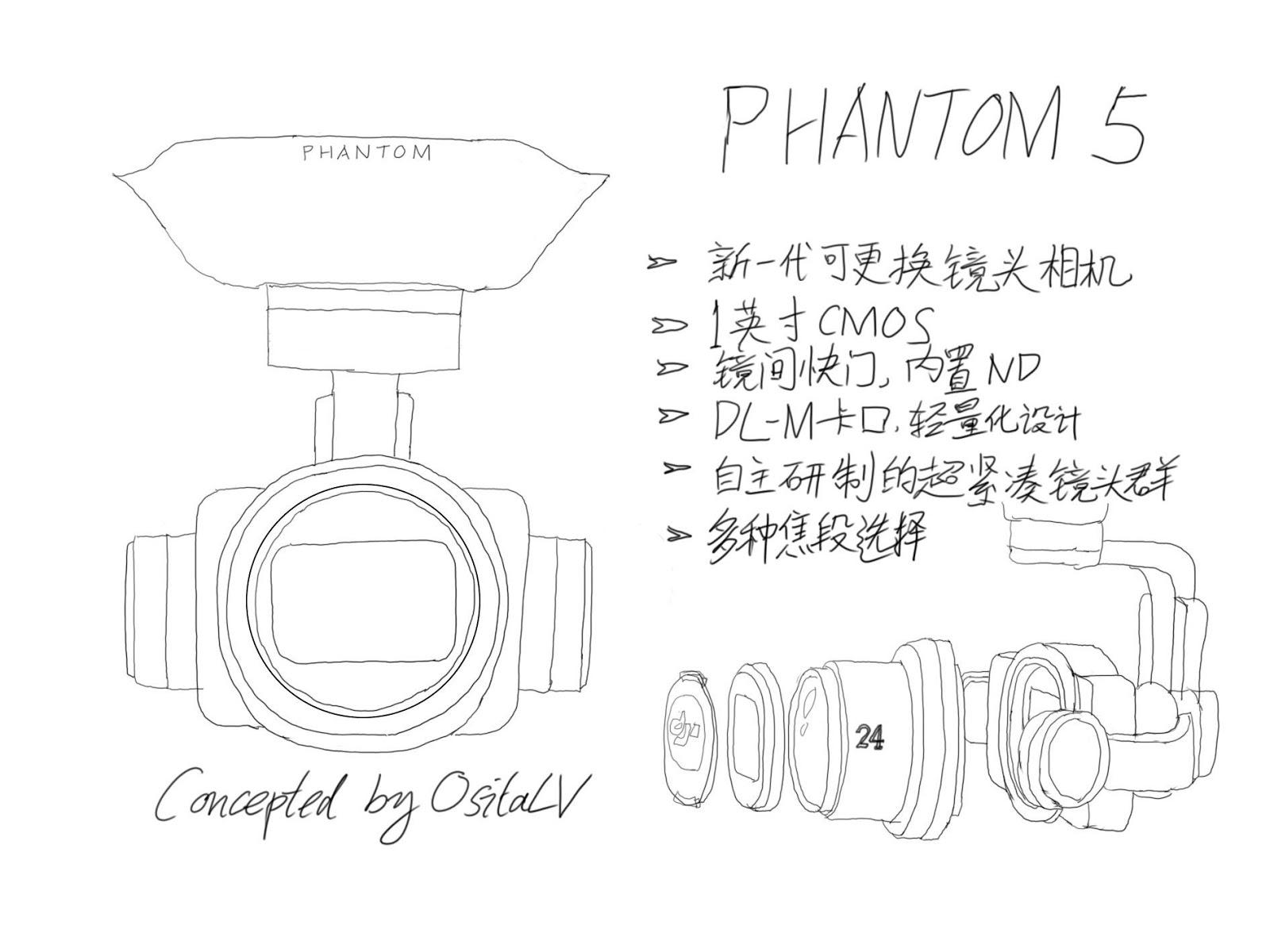 Камера DJI Phantom 5 со сменной оптикой