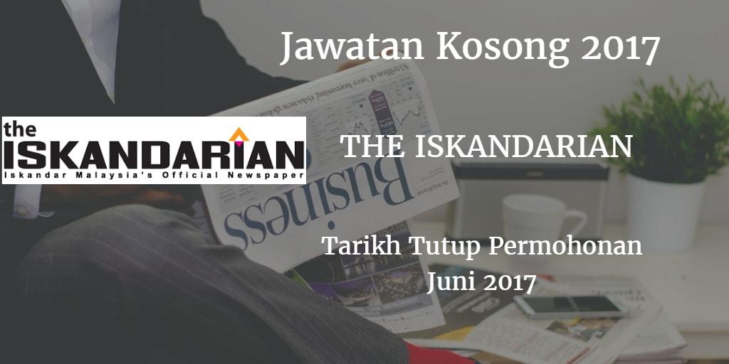 Jawatan Kosong THE ISKANDARIAN Juni 2017