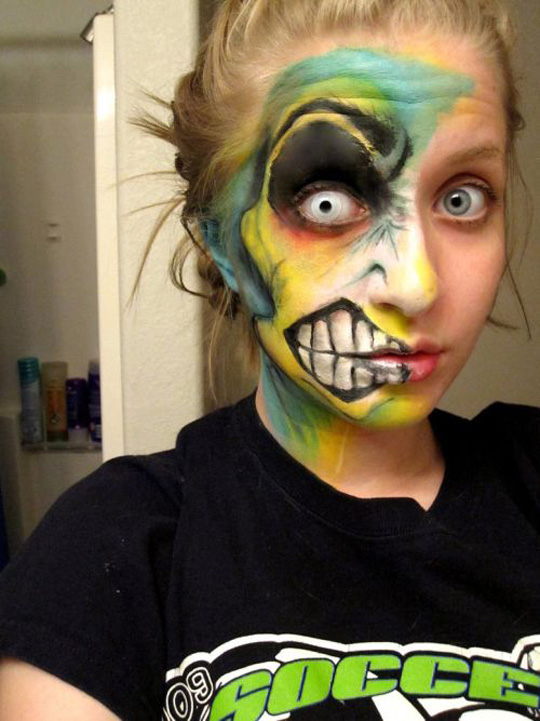Fashion and Art Trend: Face Painting - Cool Halloween Face Paint