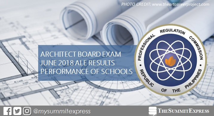 PERFORMANCE OF SCHOOLS: June 2018 Architect board exam results