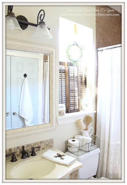 Farmhouse Guest Bathroom-DIY- From My Front Porch To Yours