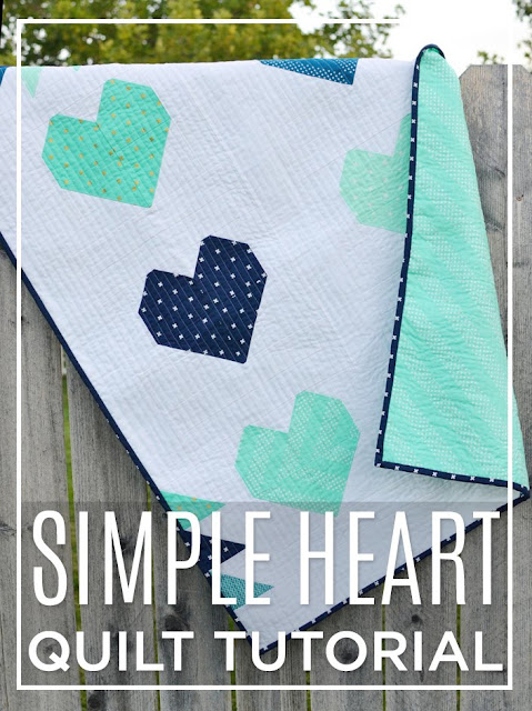 Simple Heart Quilt Tutorial found on Missouri Star Quilt Co.
