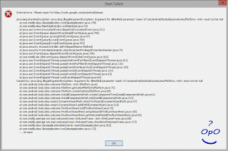 OpO ~ Cara Mengatasi Start Failed Android Studio