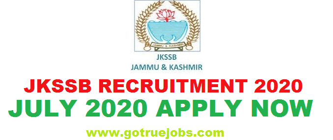 JKSSB Recruitment July 2020 For 8875 Vacancies Apply Now