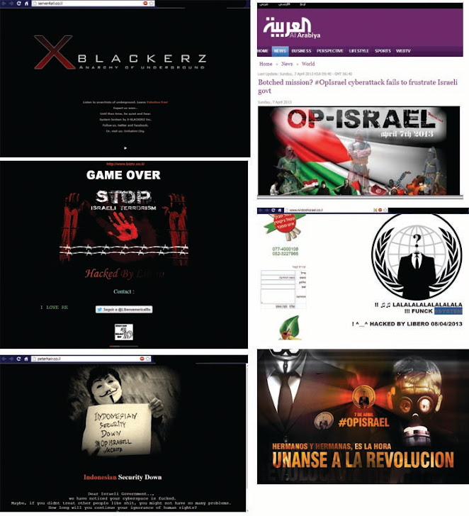 Anonymous hackers launch massive cyber assault on Israel Cyberspace, #OpIsrael