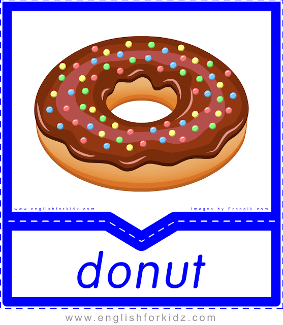 Donut - English food flashcards for ESL students