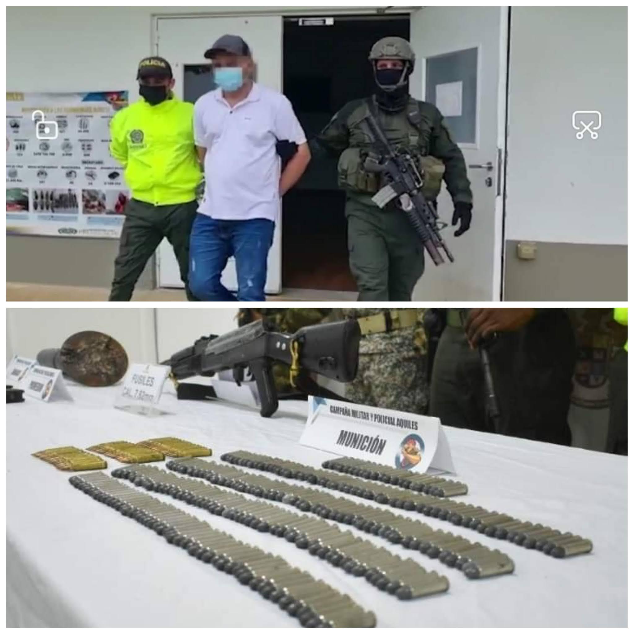 Presunto integrante del grupo armado organizado los caparros se entregó en Cáceres