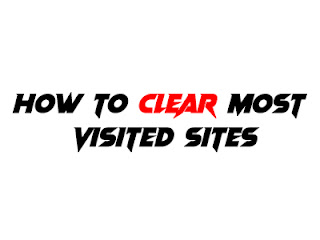 how to clear most visited sites