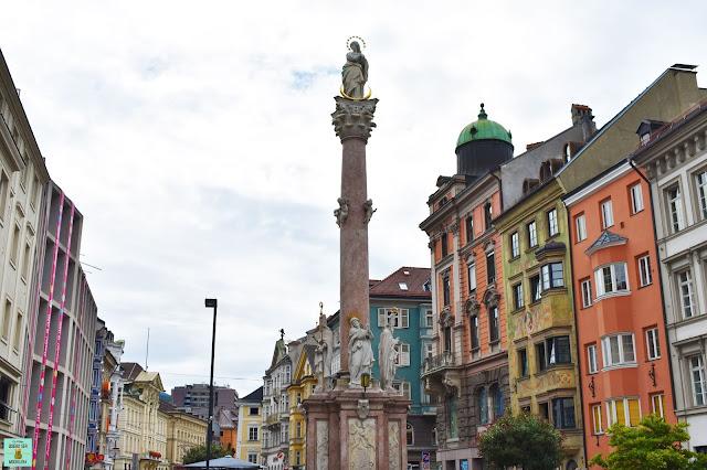 Calle Maria Theresien Strassen en Innsbruck, Austria