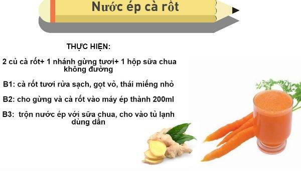 Giảm cân với 3 công thức siêu hiệu quả từ cà rốt