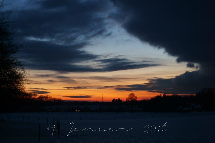 Blog + Fotografie by it's me! - Abendhimmel am 19.01.2016