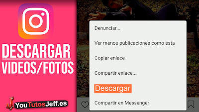 como descargar imagenes o videos de instagram