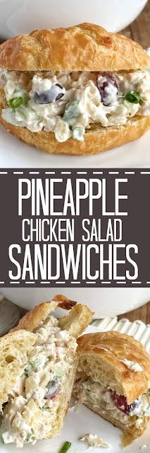 Pineapple Chicken Salad Sandwiches
