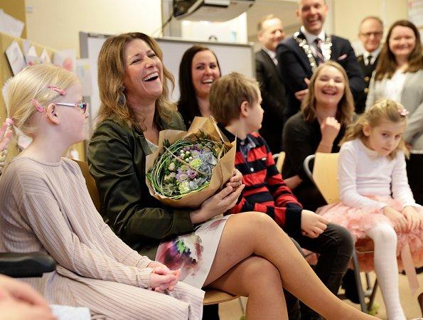 Princess Märtha Louise of Norway visited Kurland school in Sarpsborg