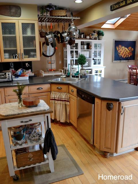 View of farmhouse kitchen