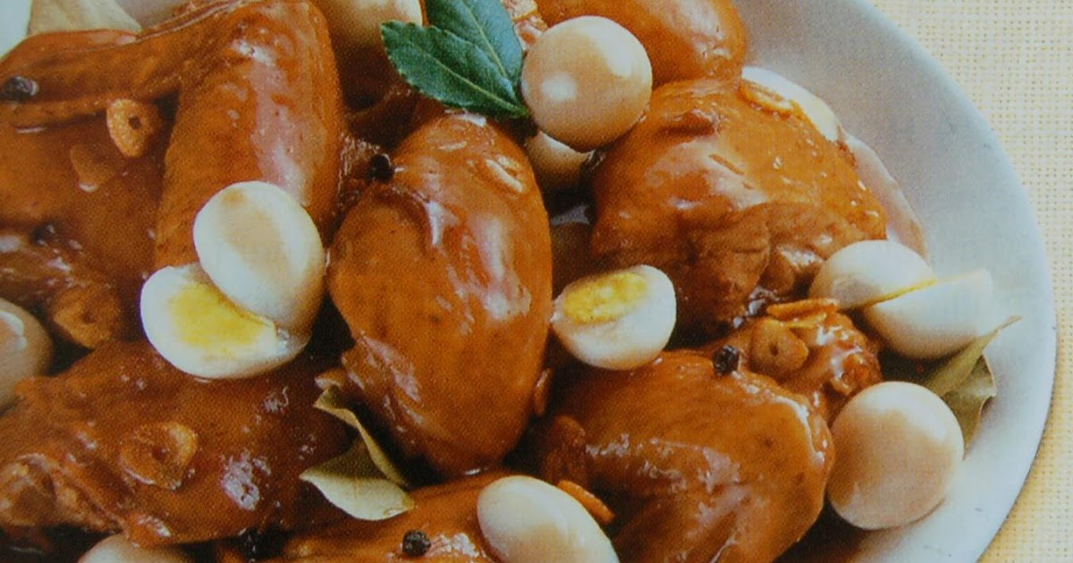 chicken adobo with quail eggs recipe