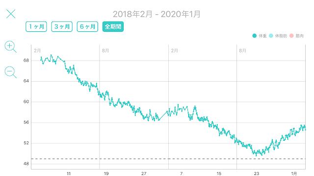 レコーディングダイエット,標準体重56.3kg,美容体重51.2kg,リバウンド,タバタ式トレーニング,羅漢果,らかんか顆粒,プランク