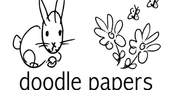 Free digital easter coloring scrapbooking paper