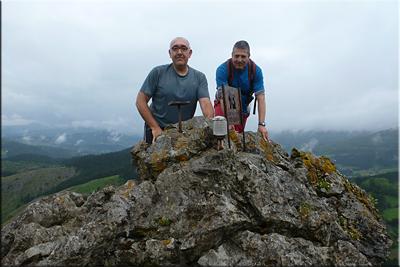 Garaio mendiaren gailurra 574 m.  --  2016ko ekainaren 18an
